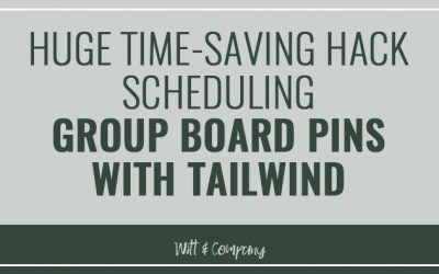 Saving Time Scheduling Group Board Pins with Tailwind