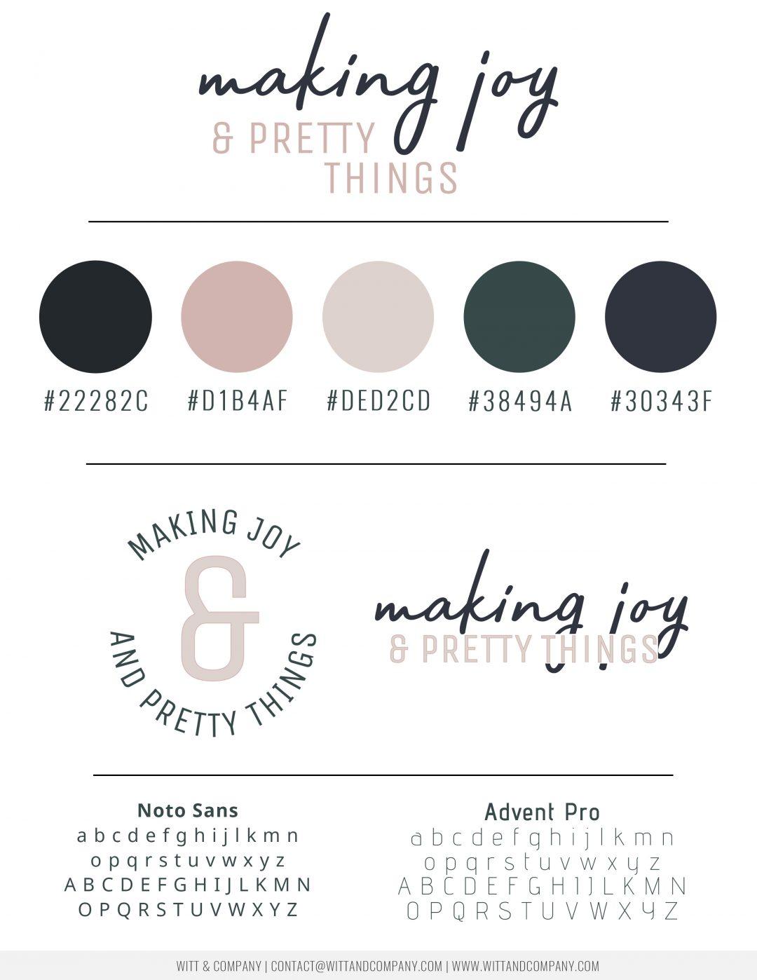 Making Joy and Pretty Things | Branding