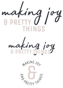 Making Joy and Pretty Things | Logo