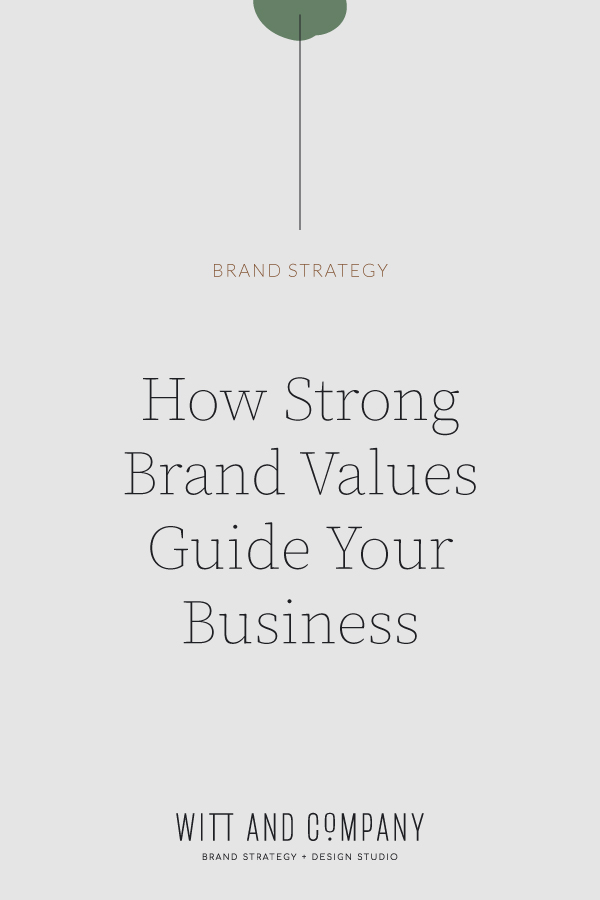 How Strong Brand Values Guide Your Business