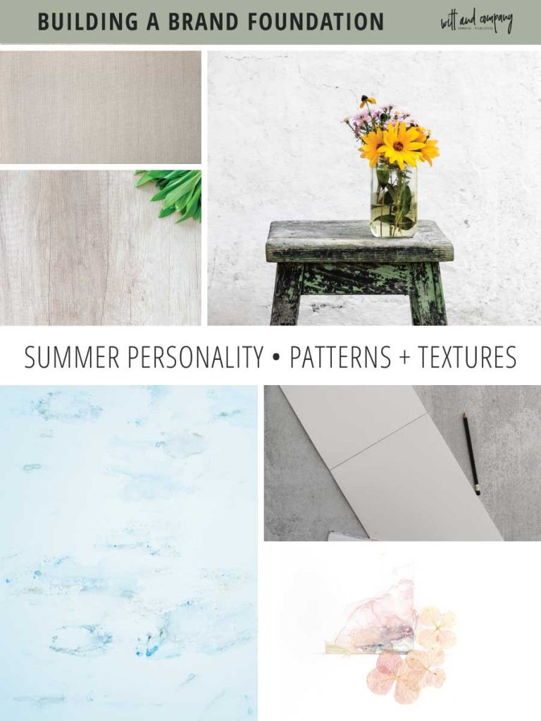 We're diving into seasonal color theory specifics and taking a look at the visual brand elements for the summer brand personality. | seasonal brand theory | color psychology | summer personality | Witt and Company | #wittandcompany #colorpsychology #seasonalbrandtheory #seasonalcolor