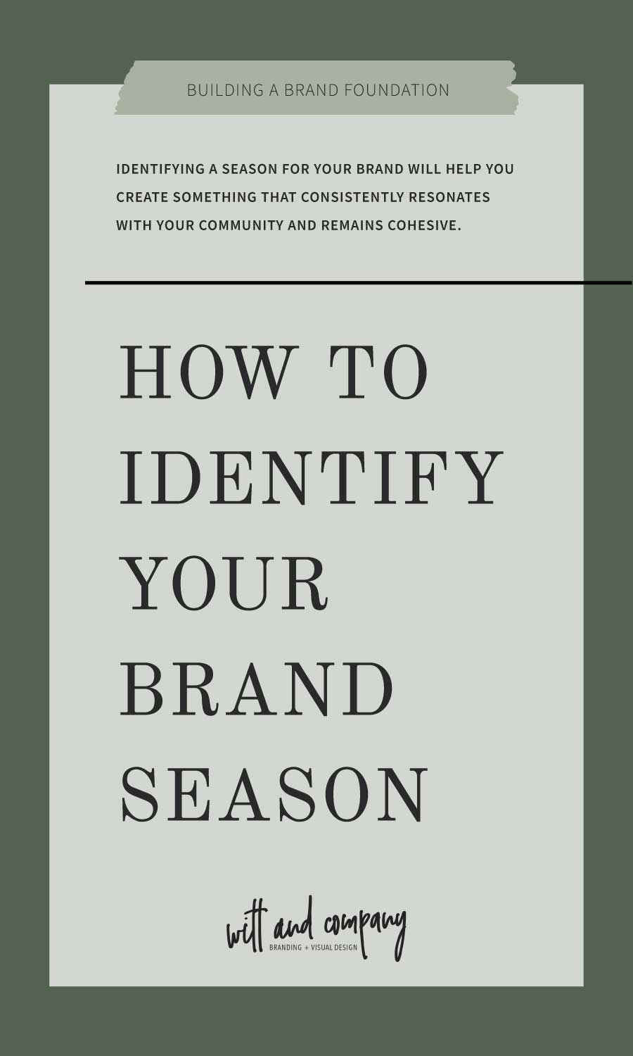 How to Identify Your Brand Season