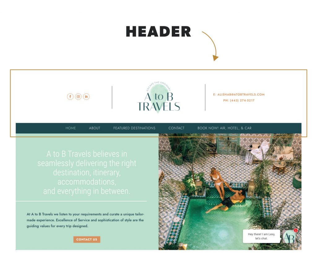 What is a Header in Website Terminology
