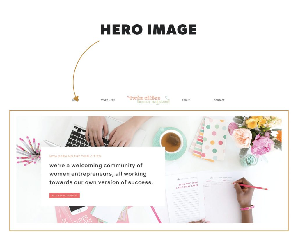 What is a Hero Image in Website Terminology