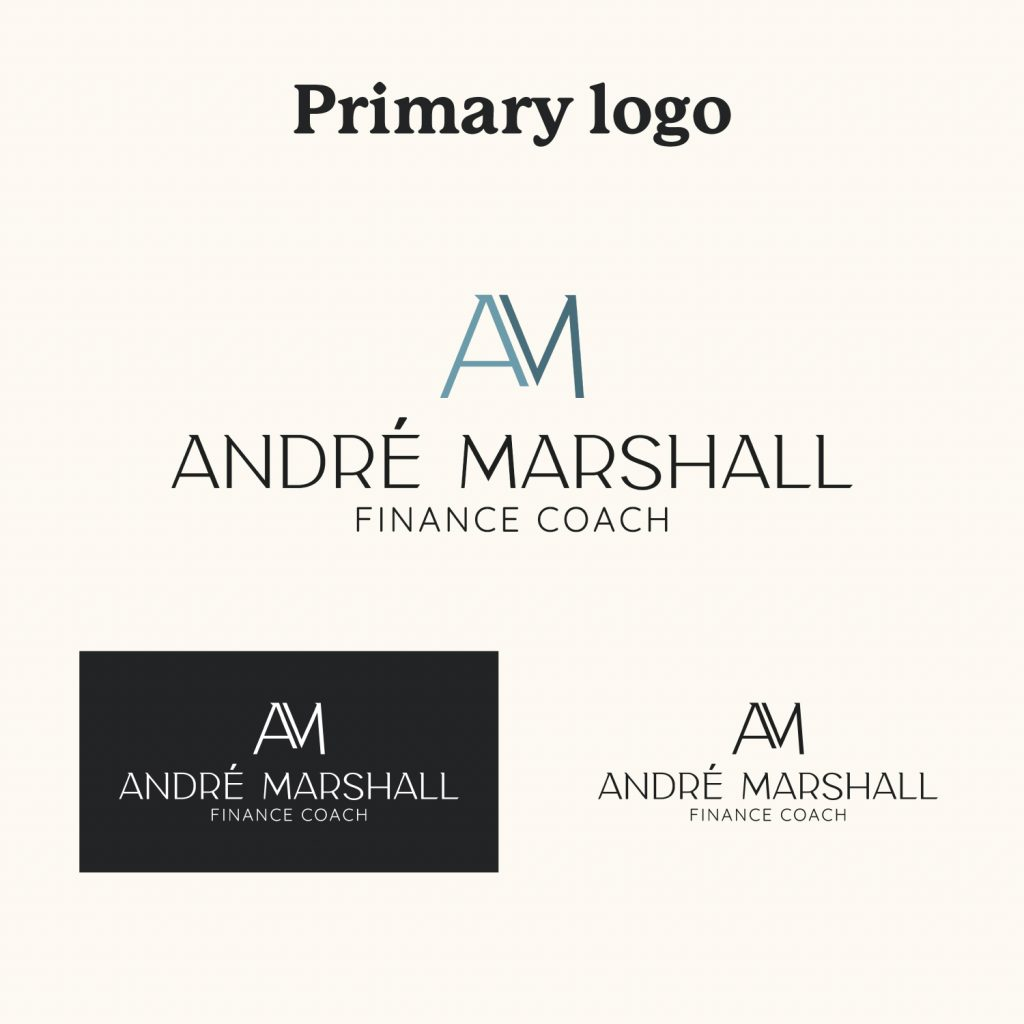 Primary logo example for Andre Marshall Finance Coach