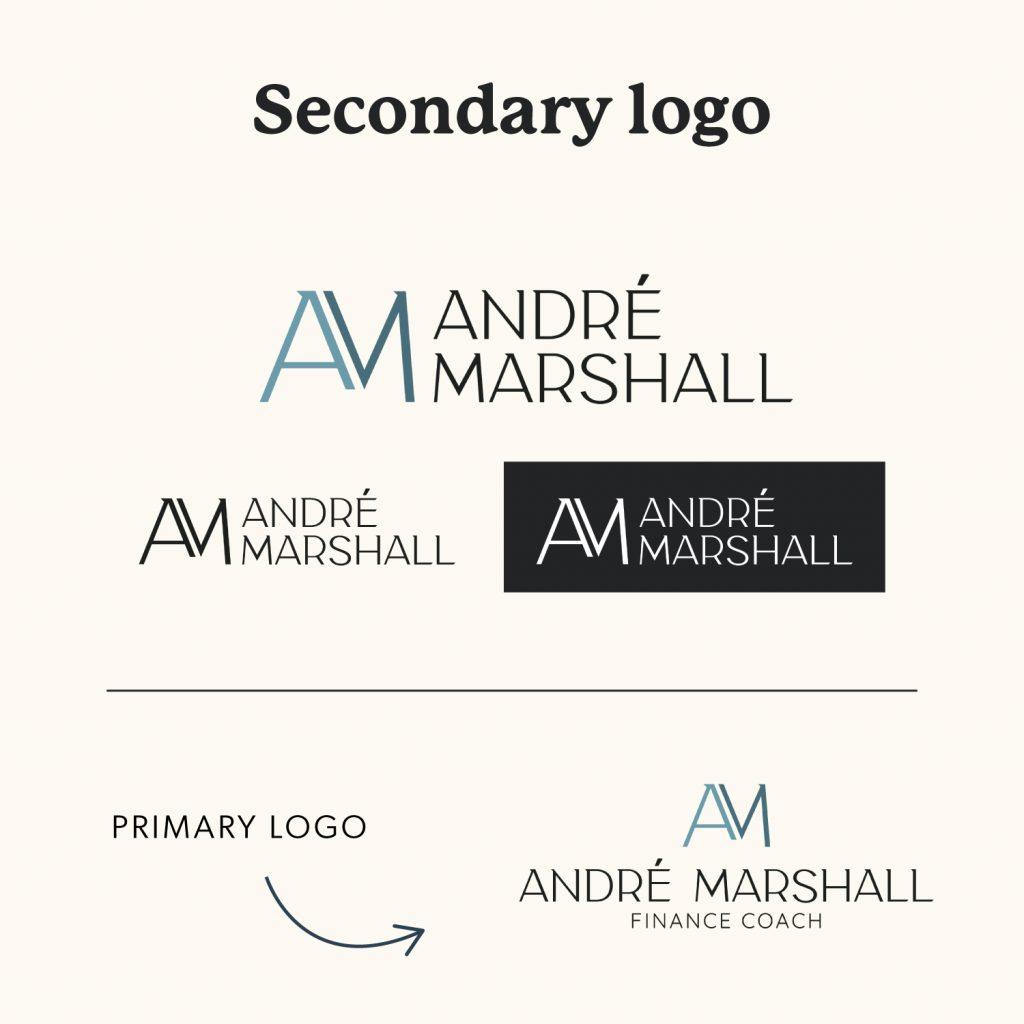 Secondary Logo Variation for Andre Marshall Finance Coach