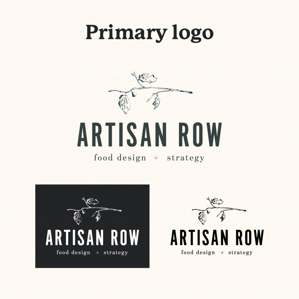 Artisan Row Primary Logo Design