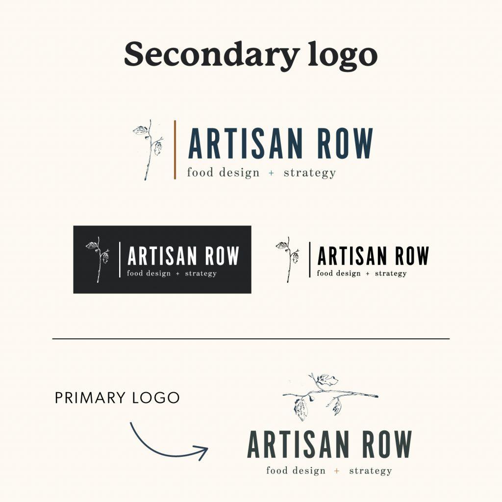 The Artisan Row Secondary Logo Variation