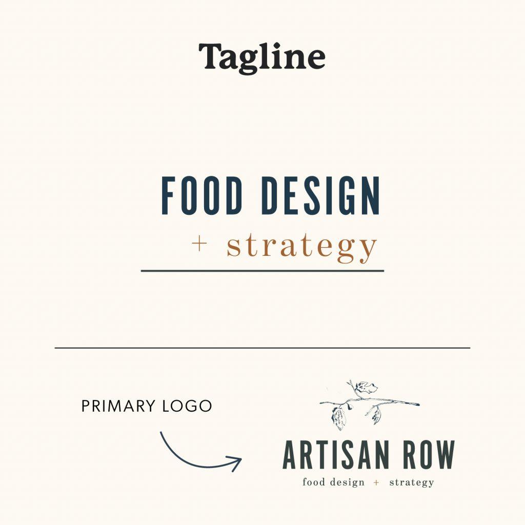The Artisan Row Tagline Logo Variation