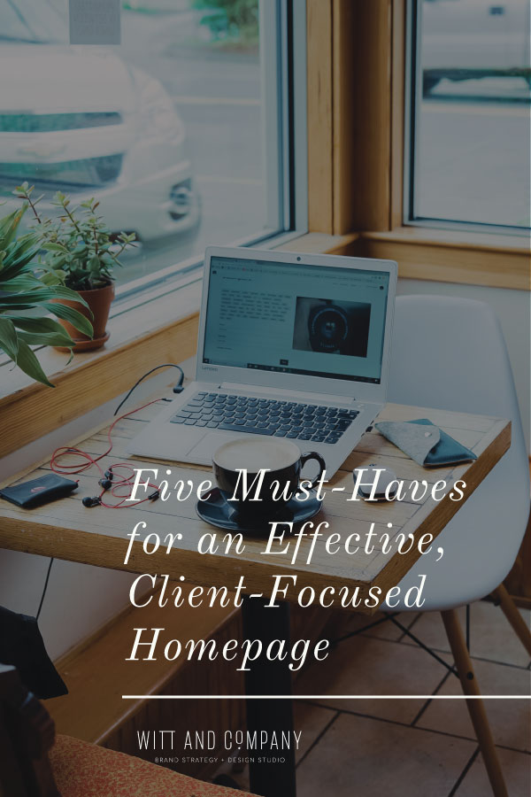 Five Must-Haves For An Effective Website Homepage