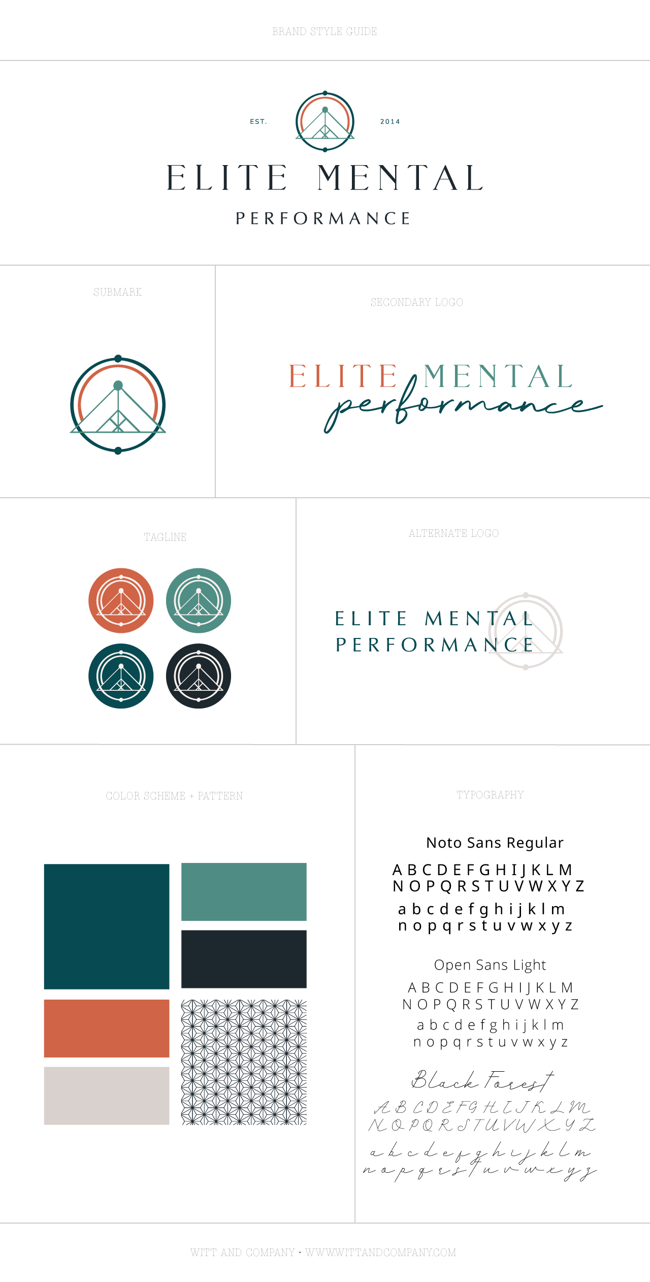 High Performance Coach Logo Design | Witt and Company