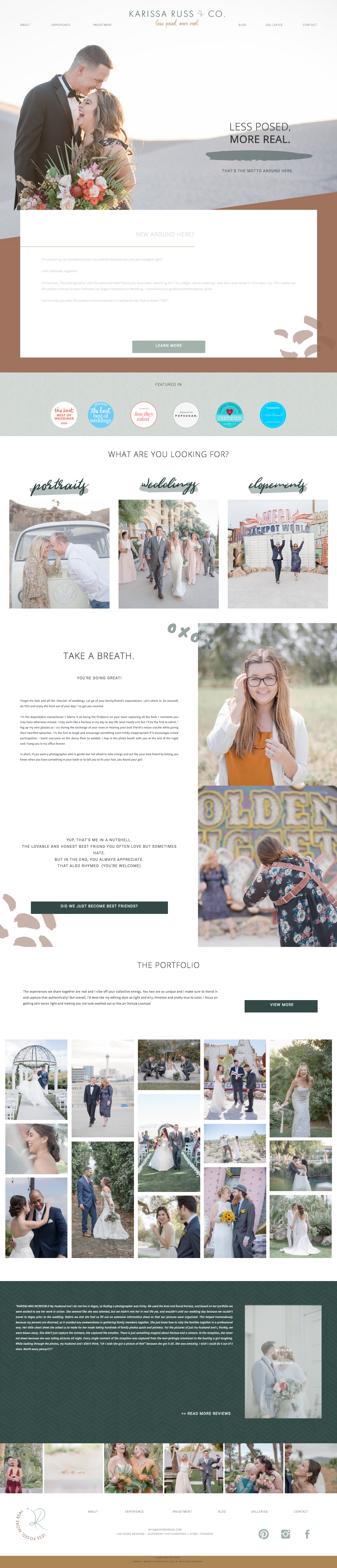 Karissa Russ & Co. Home Page Website Design with Showit