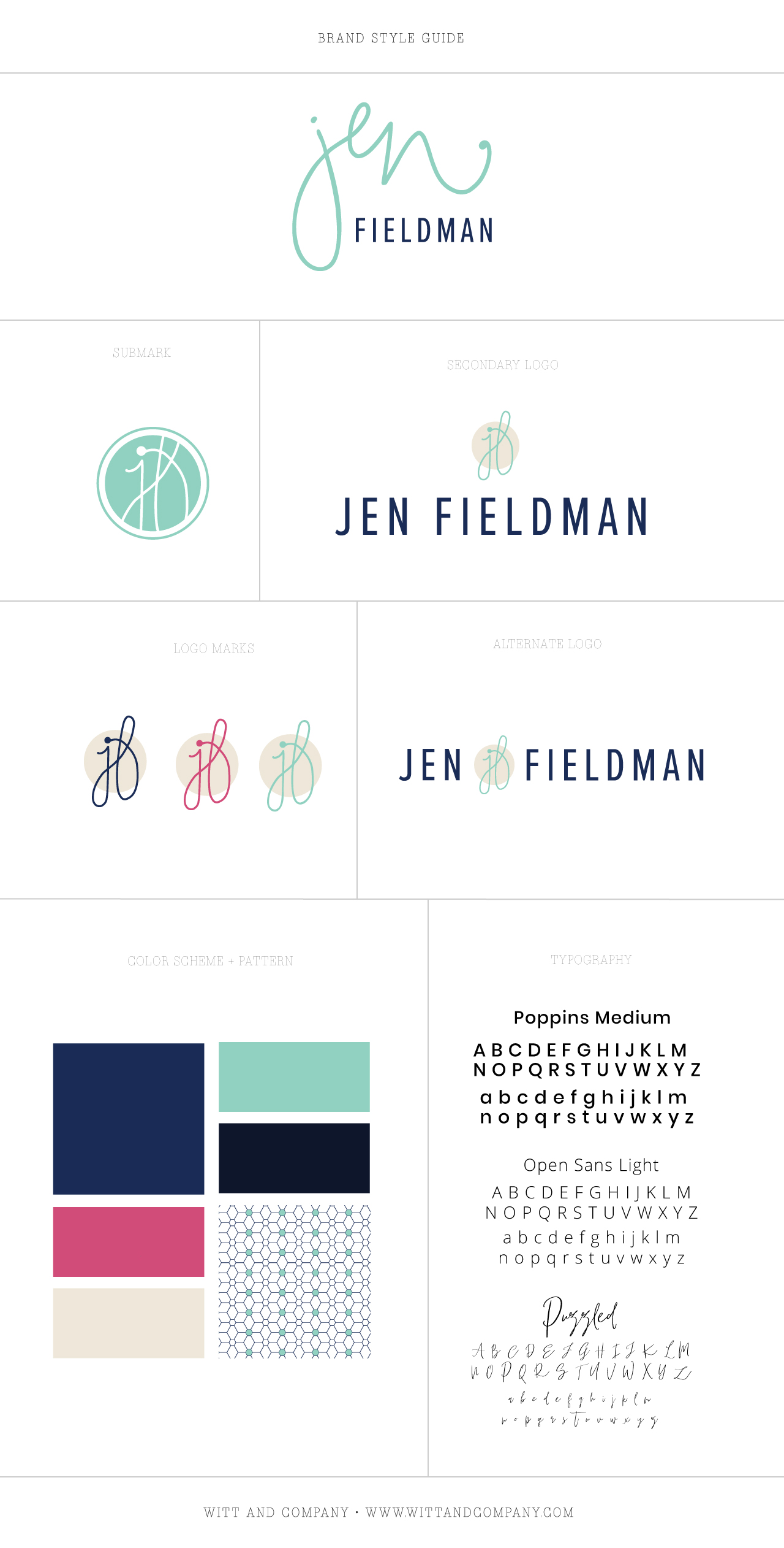 Brand Reveal for Jen Fieldman, Marketing Strategist | Witt and Company