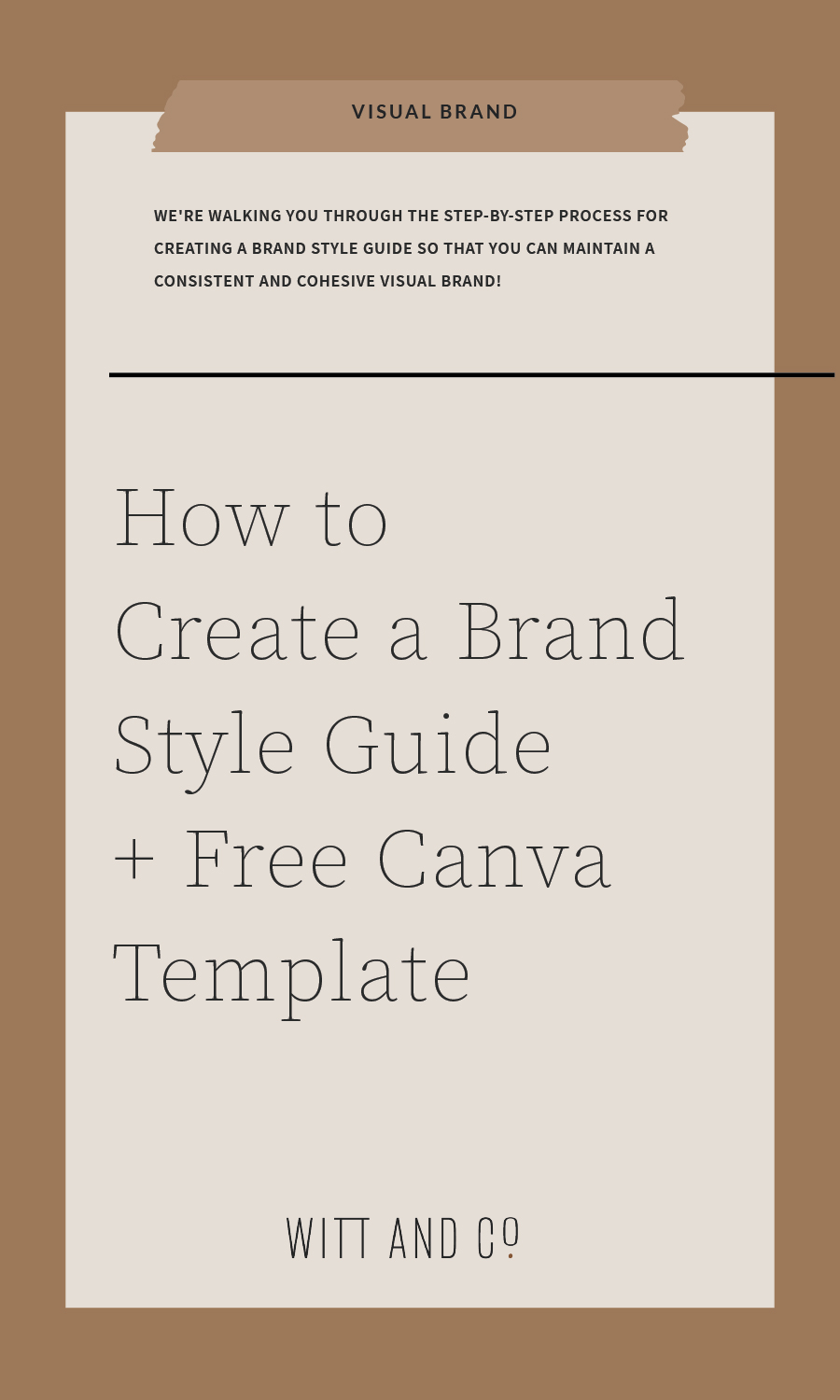 How to Create a Brand Style Guide + Free Canva Template