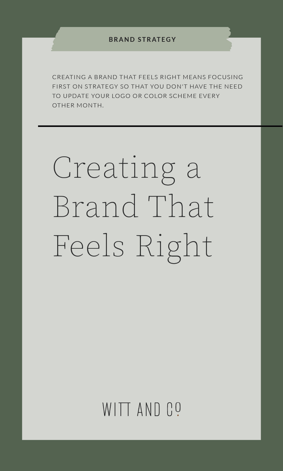 Creating a Brand That Feels Right