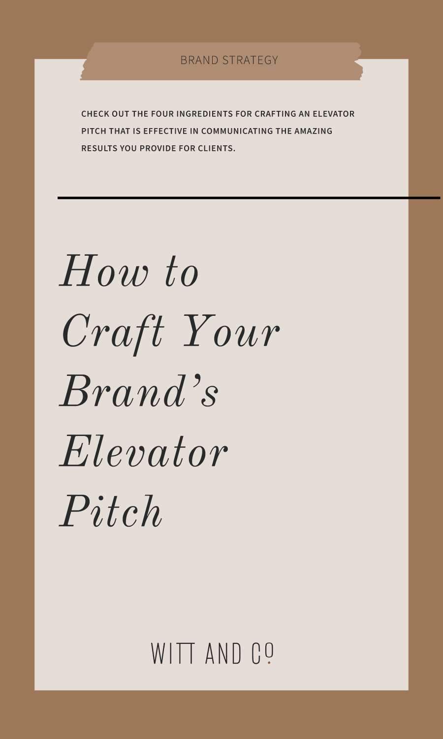 Crafting an Elevator Pitch That Resonates