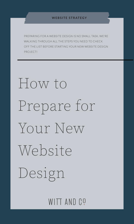 How to Prepare for a New Website Design