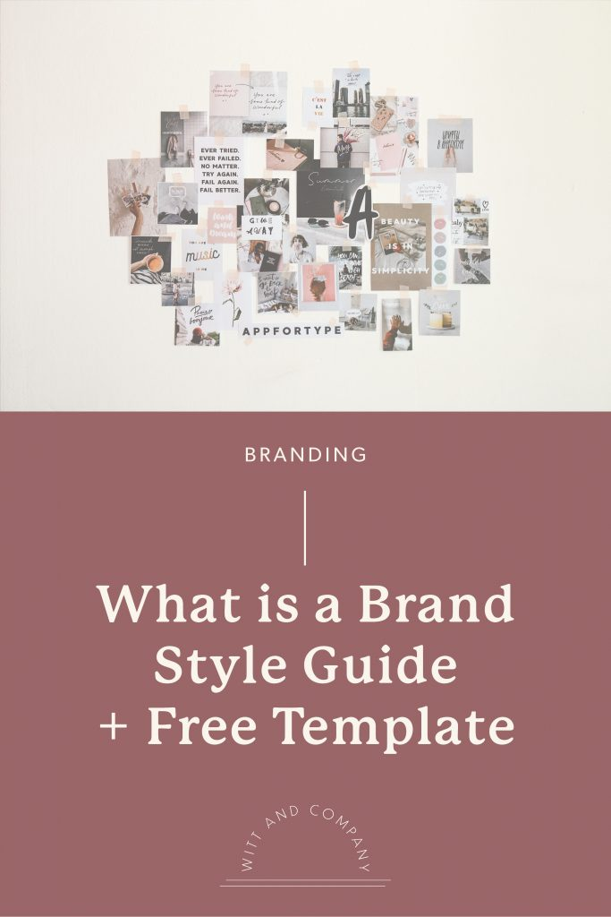 What is a Brand Style Guide + Free Template | Witt and Company