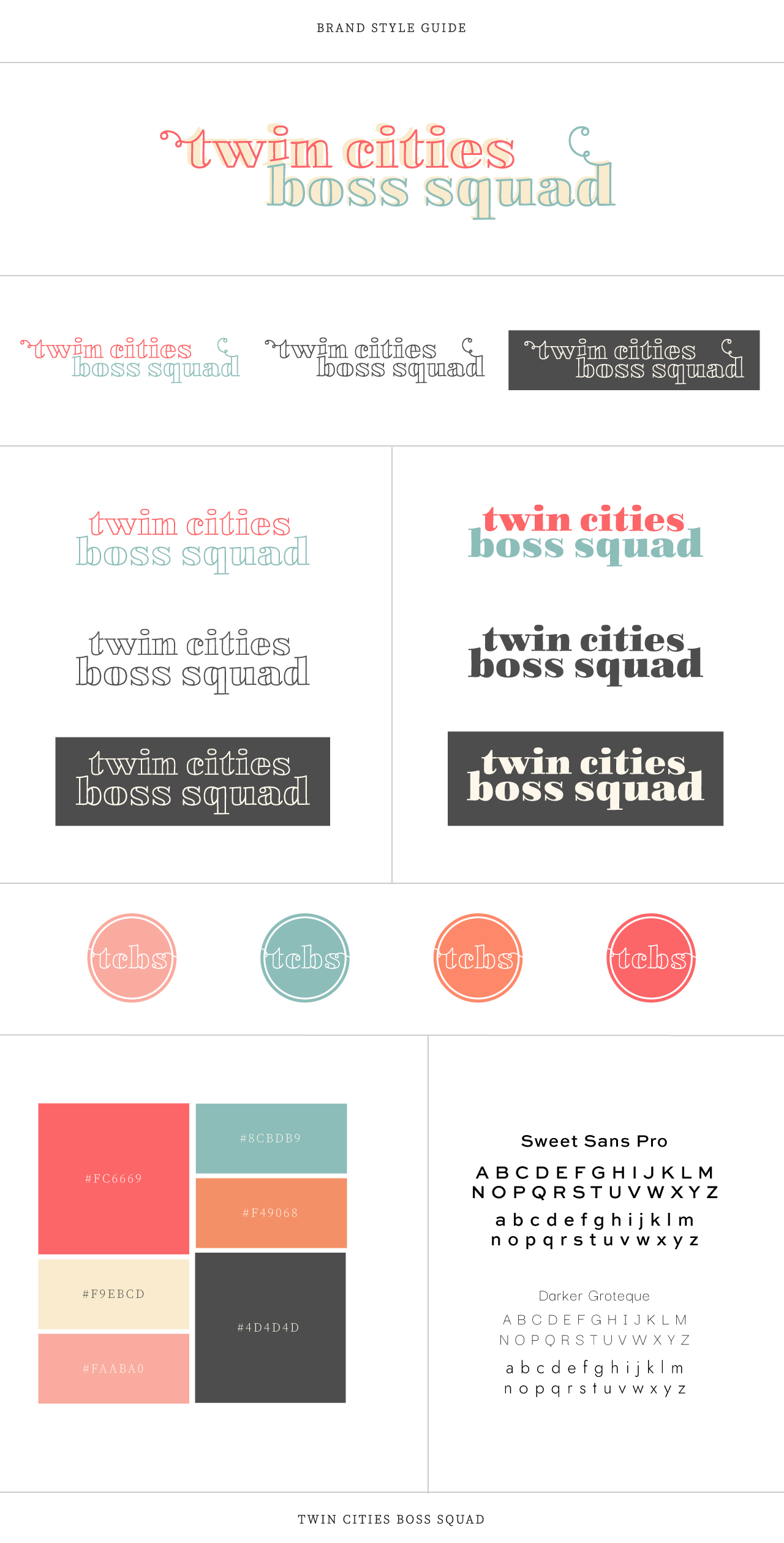 Twin Cities Boss Squad Visual Brand Style Guide | Witt and Company