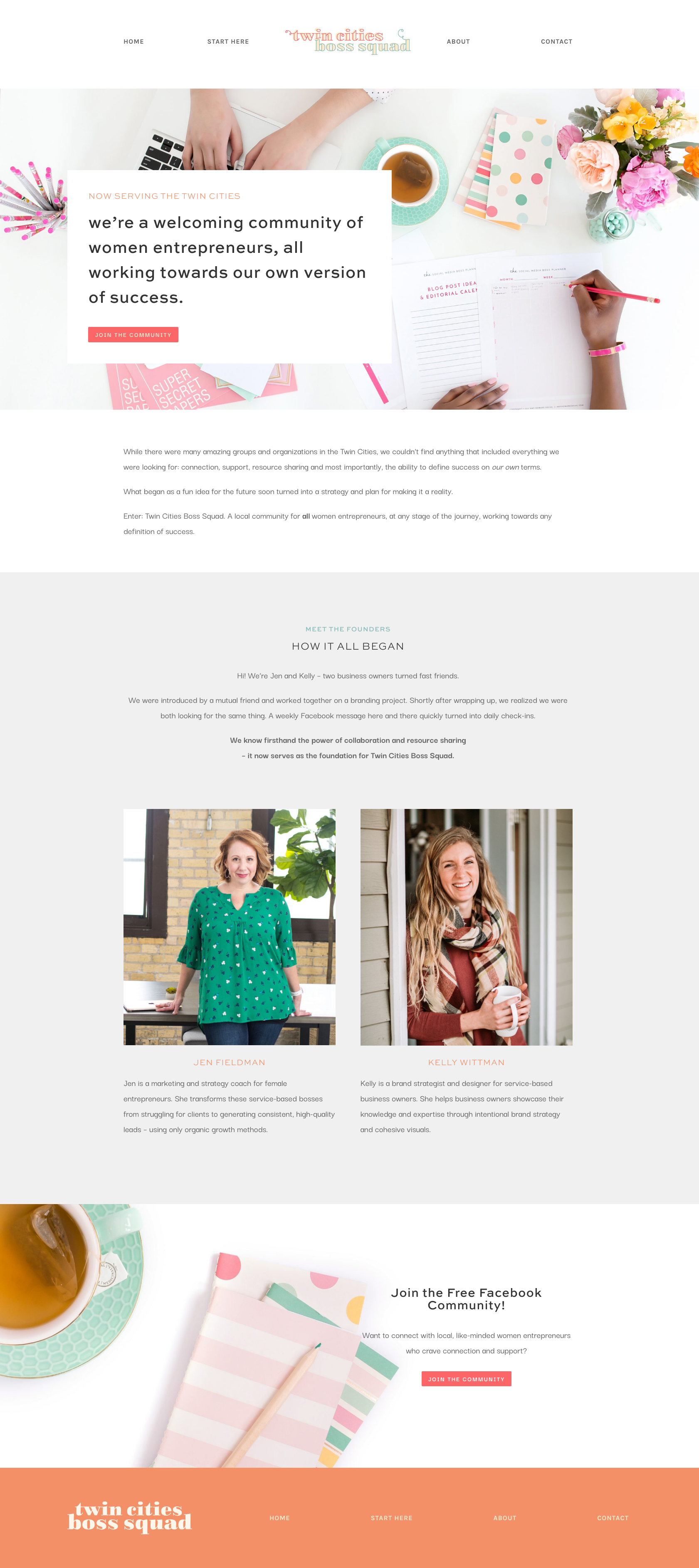 Twin Cities Boss Squad Website Home Page | Witt and Company