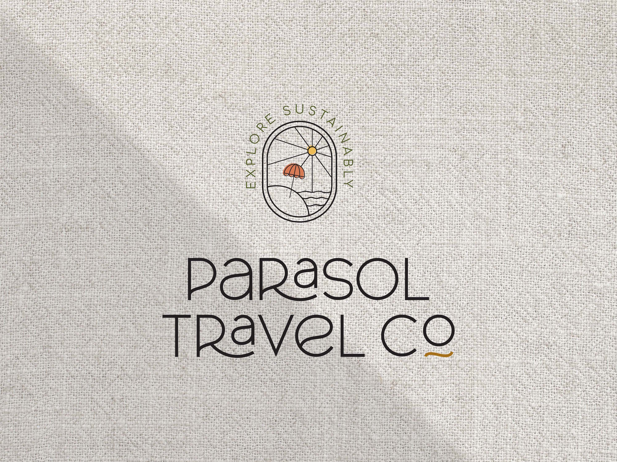 Parasol Travel Co Travel Agency Logo