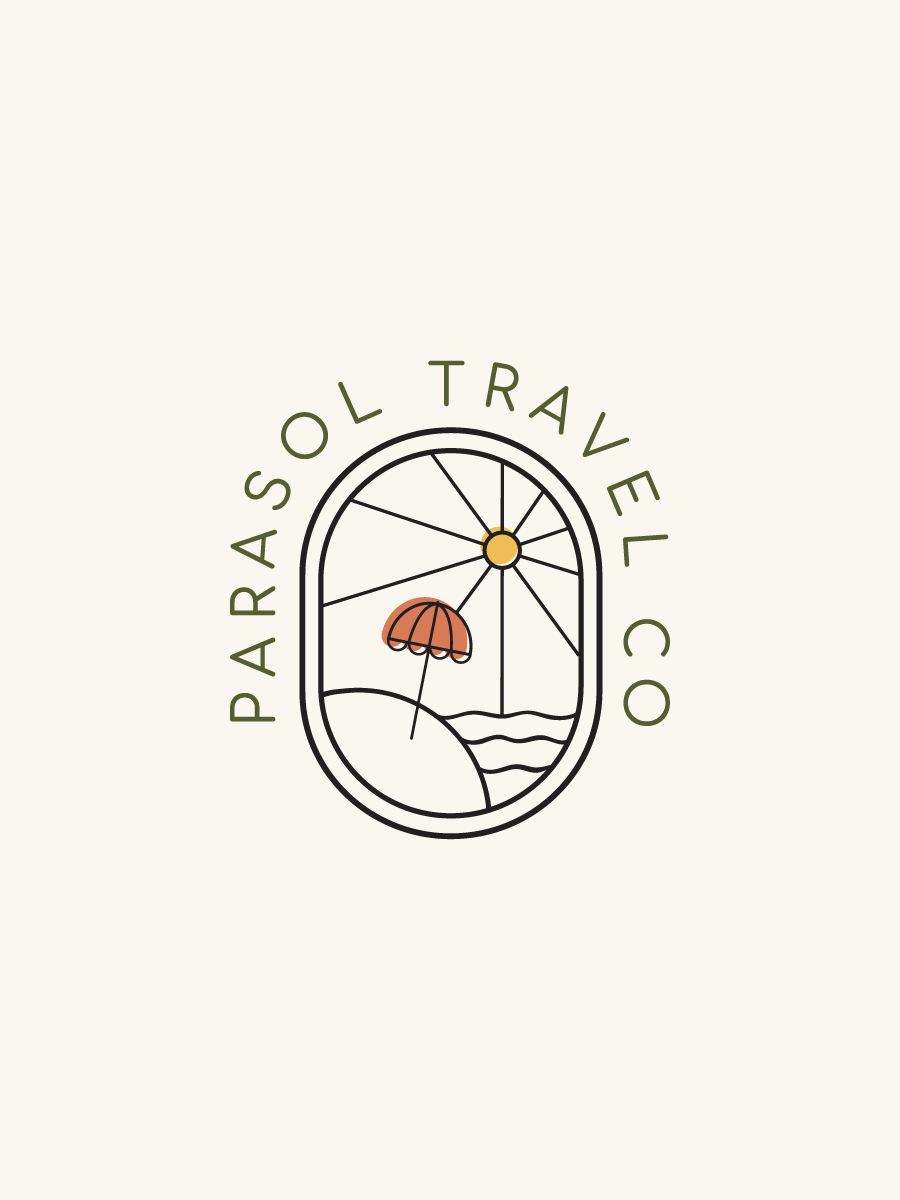 Parasol Travel Co Travel Agency Submark Logo