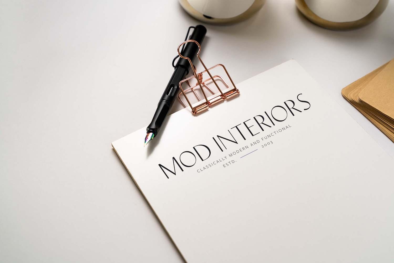 Mod Interiors Logo Design | Witt and Company