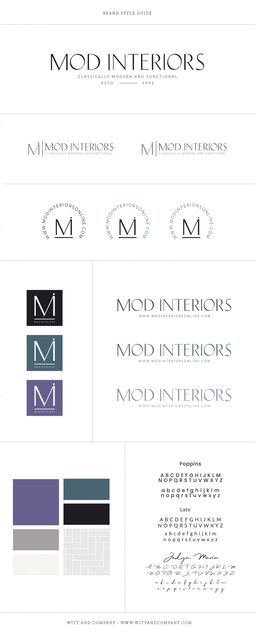 Mod Interiors Custom Brand Design | Witt and Company