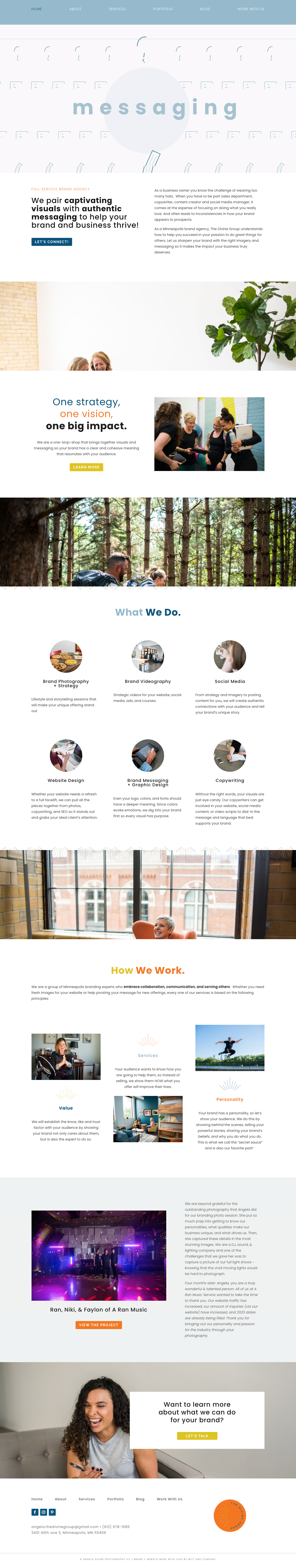 Branding Agency Home Page Layout and Design