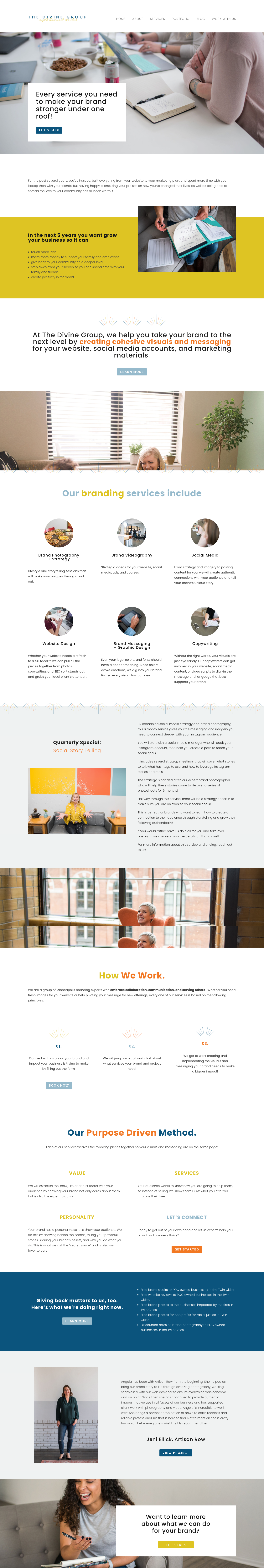 Brand Agency Services Page Website Design