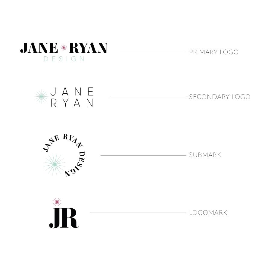 Jane Ryan Design Semi-Custom Brand and Logo Design | Witt and Company