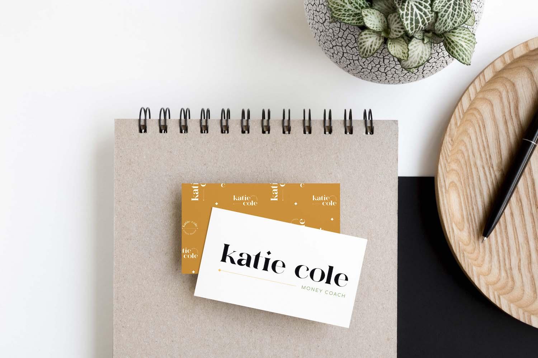 Katie Cole Money Coach Semi-Custom Brand and Logo Design | Witt and Company