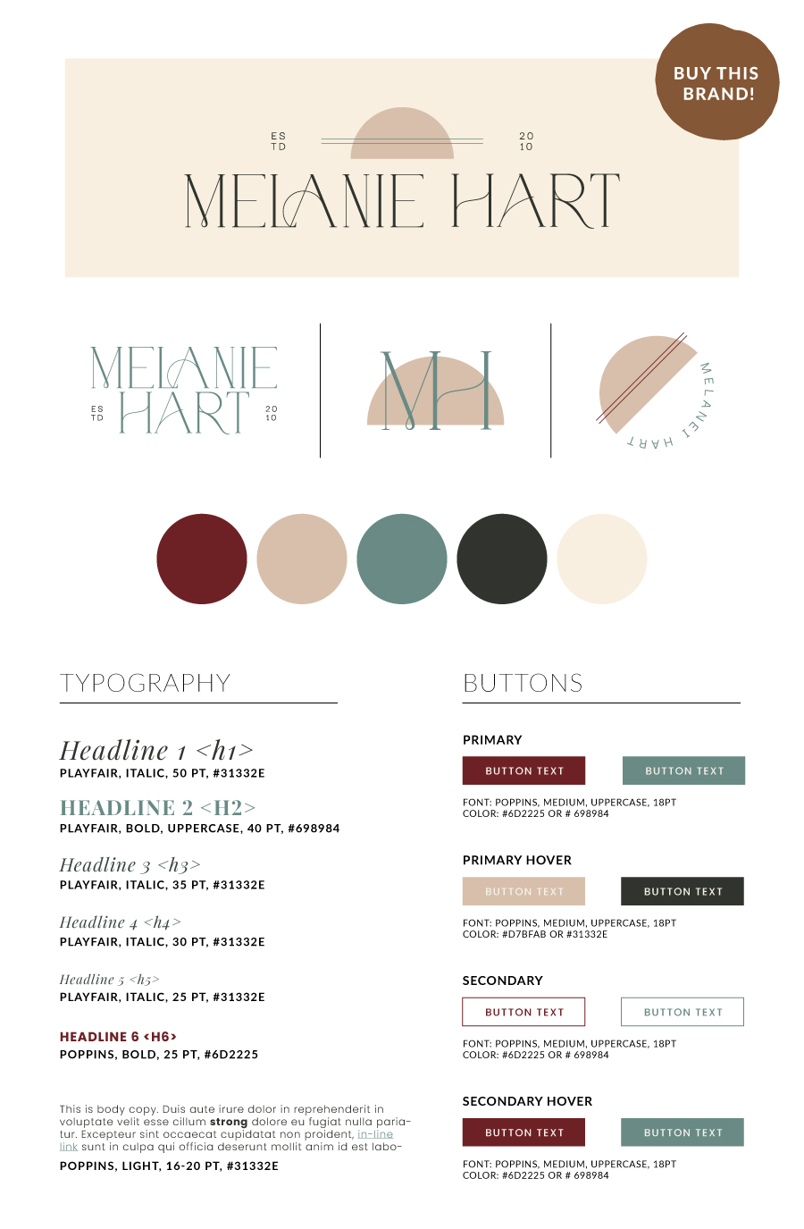 Melanie Hart Semi-Custom Brand Design | Witt and Company