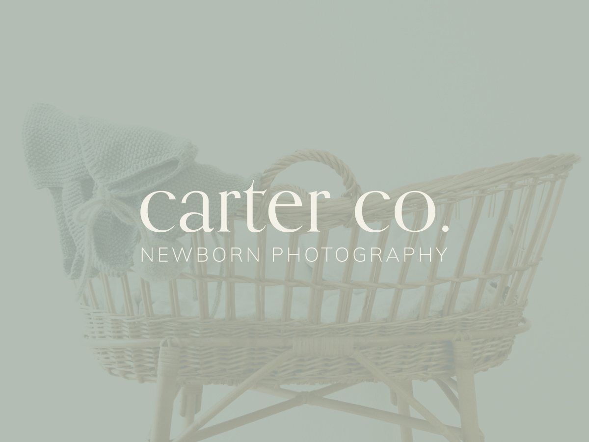 BUY TODAY! Carter Co Newborn Photography Semi-Custom Brand Design | Witt and Company