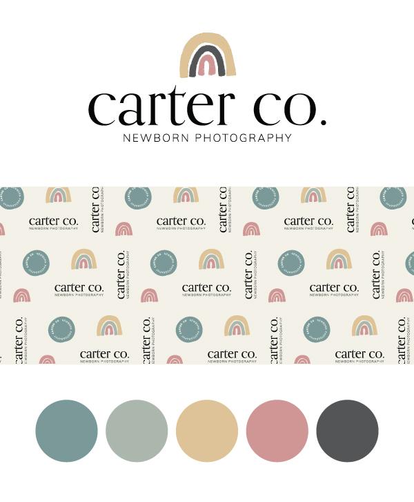 BUY TODAY! Carter Co Newborn Photography Semi-Custom Brand Design | Witt and Company