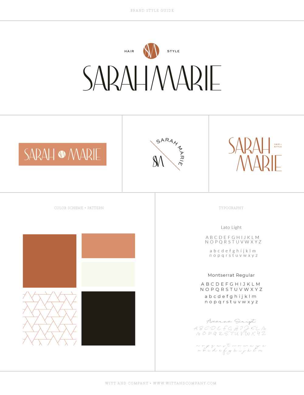 Sarah Marie Custom Brand Design | Witt and Company
