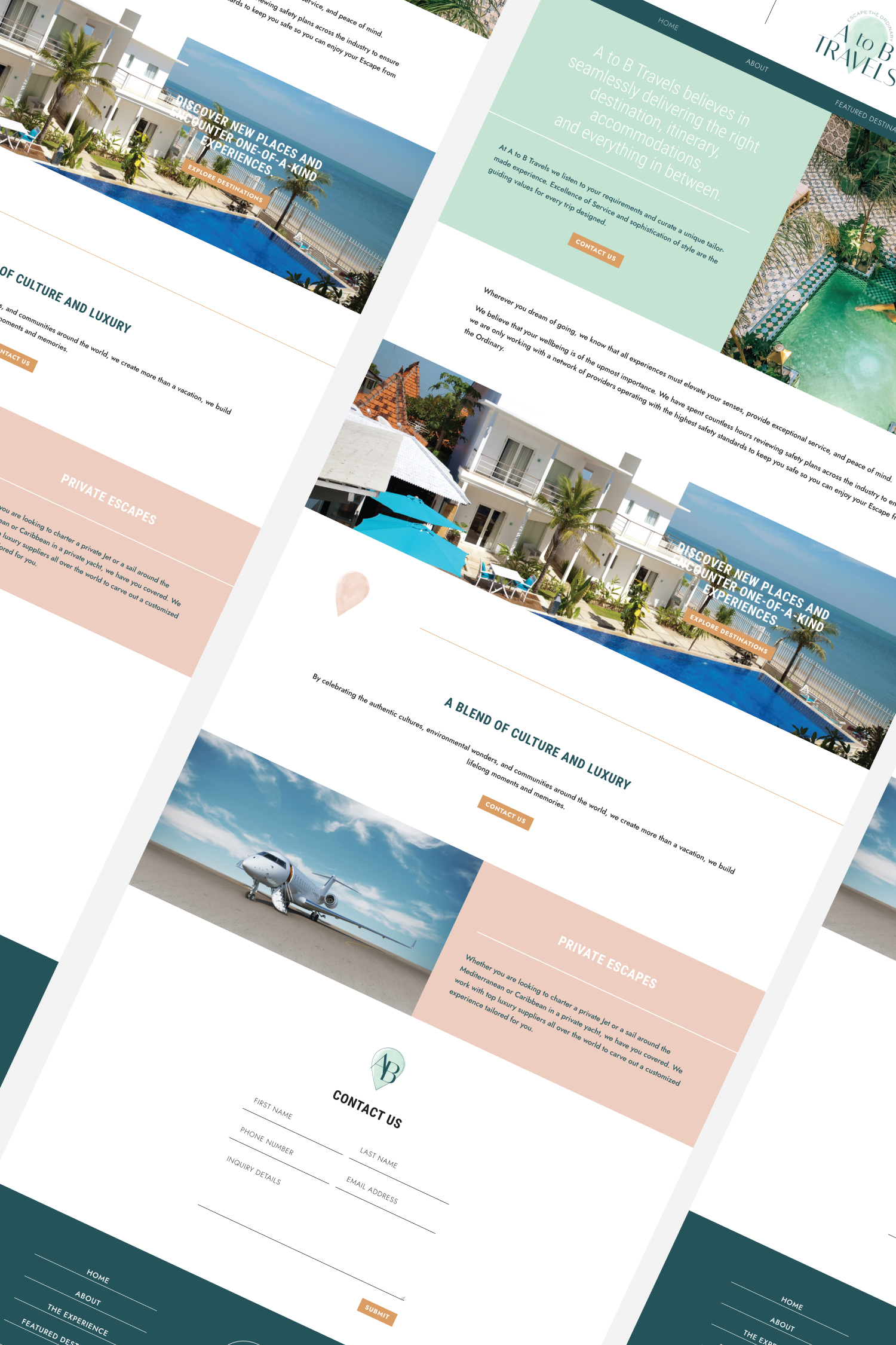 A to B Travels Website Homepage